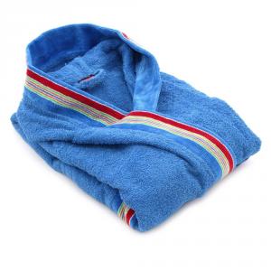 Accappatoio per bambino in spugna con cappuccio GABEL Pongo - bluette XL - 5 anni, 101-110 cm