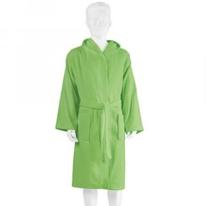 Accappatoio bambino in microspugna con cappuccio PRETTI verde - Tg.3 - 7-8 anni