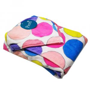 Accappatoio donna in spugna con cappuccio PRETTI Minimal - multicolor L