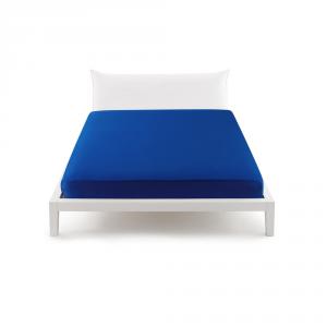 Bassetti Pop Color Lenzuolo con angoli per letto matrimoniale 175x200 cm - bluette 3380