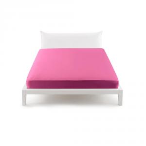 Bassetti Pop Color Lenzuolo con angoli per letto matrimoniale 175x200 cm - fucsia 3143