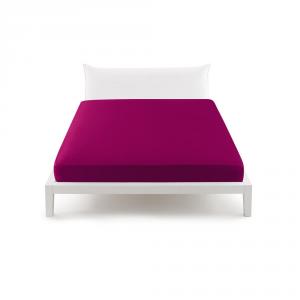 Bassetti Pop Color Lenzuolo con angoli per letto matrimoniale 175x200 cm - porpora 1881