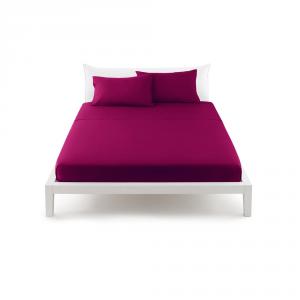 Bassetti Pop Color Lenzuolo piano di sopra letto singolo 160x290 cm - porpora 1881