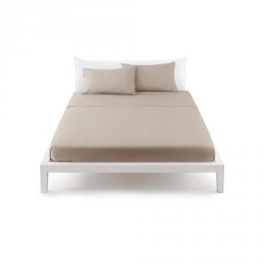 Bassetti Pop Color Lenzuolo piano di sopra letto singolo 160x290 cm - tortora 1696