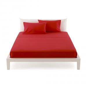 Lenzuola di sopra letto singolo 160x280 Bassetti TIME - rosso 3140