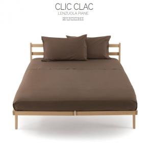 Lenzuola di sopra in percalle 80 fili CLIC CLAC Zucchi matrimoniale - cacao 1510
