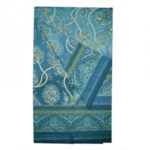 Bassetti Granfoulard telo arredo BRAMANTE var.3 blu puro cotone - 350x270 cm