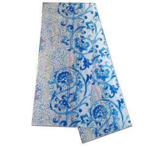 Bassetti Granfoulard telo arredo CAPRI var.3 blu puro cotone - 270x270 cm