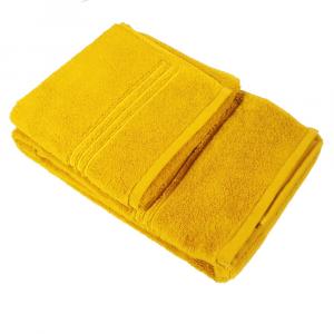 LA PERLA set 1+1 asciugamano e ospite NOVEL 100% spugna - oro