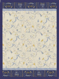 Bassetti PLAID matrimoniale GRANFOULARD OPLONTIS blu var.9 240x250