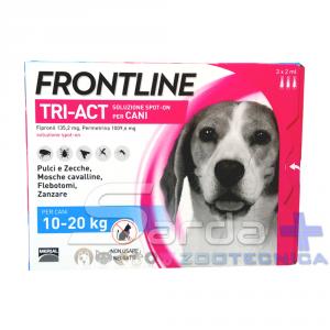 FRONTLINE TRI-ACT per cani dai 10 ai 20 kg - 3 pipette