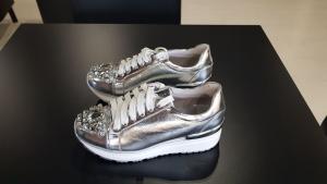 Sneakers alta con brillanti