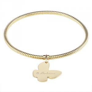 Bracciale MINIMAL POP EXT in oro giallo 9k con farfalla e brillantino