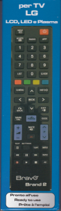 BRAVO BRAND 2 TELECOMANDO PER TV LG PRONTO ALL'USO 90202062