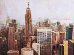 DIPINTO A MANO NEW YORK 90*120