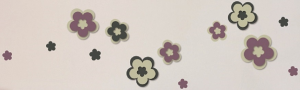 STICKERS 3D FLOWERS