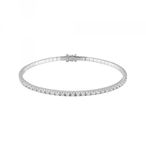 BRACCIALE SALVINI ROYAL EXT tennis rigido in oro bianco con diamanti nella parte superiore per ct 0,30