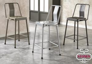 Kit 4 sedie londra in ferro