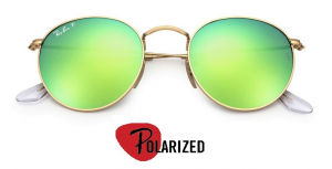 Rayban Rb 3447 Round Metal Flash Lenses Polarized