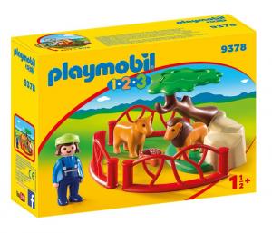 PLAYMOBIL RECINTO DEI LEONI 1.2.3 9378