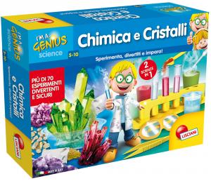 LISCIANI GIOCHI PICCOLO GENIO CHIMICA E CRISTALLI 2 in 1 - I'M A GENIUS 56248
