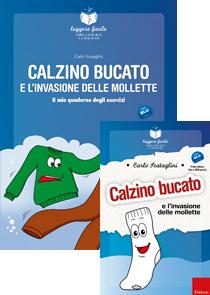 ERICKSON LEGGERE FACILE - CALZINO BUCATO E L'INVASIONE DELLE MOLLETTE (STORIA + QUADERNO)