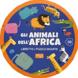 SASSI EDITORE GLI ANIMALI DELL'AFRICA. EDIZ. A COLORI. CON PUZZLE di Mathew Neil