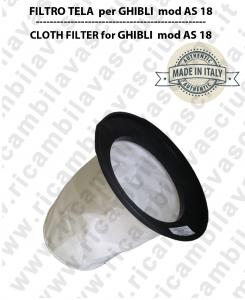 AS 18 Filtre Toile pour aspirateur GHIBLI