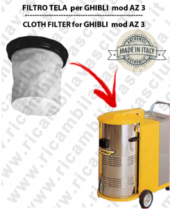 AZ 3 Filtre Toile pour aspirateur GHIBLI