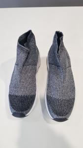 Sneakers slip on argento