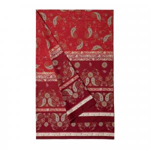 Bassetti Granfoulard telo arredo RAFFAELLO v.1 rosso puro cotone - 270x270 cm