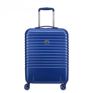 Delsey - Caumartin Plus - Valigia trolley da cabina Ryanair 4 doppie ruote slim 55 cm blu cod. 2078803