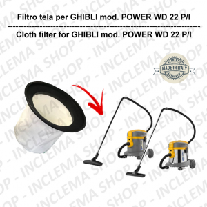 Canvas Filter for vacuum cleaner GHIBLI model POWER WD 22 P/I