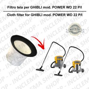 Filtre Toile pour aspirateur GHIBLI modèle POWER WD 22 P/I