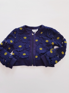 Giacchino blu con margherite da bamiba 3-4 anni