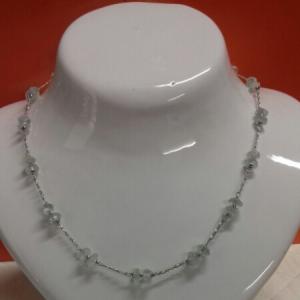 Collana in oro bianco e quarzo bianco, vendita on line | OROLOGERIA BRUNI Imperia