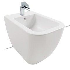 Bidet a terra filomuro per il bagno cm 52 x 34,5 Bianca Hatria