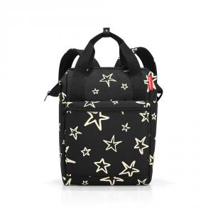 Reisenthel - Allrounder R - Zaino piccolo nero con stelle bianche cod. JR7046