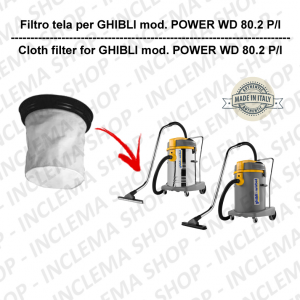 POWER WD 80.2 P/I Canvas Filter for vacuum cleaner GHIBLI
