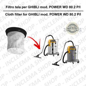 POWER WD 80.2 P/I Filtre Toile pour aspirateur GHIBLI