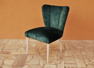 Vintage fan-shaped armchair