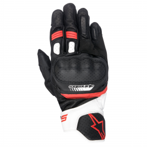GUANTI MOTO IN PELLE ALPINESTARS SP-5 BLACK WHITE RED