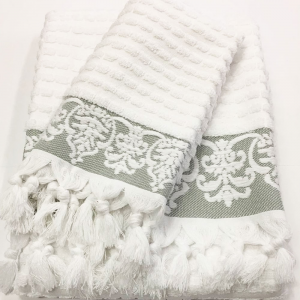 Coppia di asciugamani set 1+1 in spugna CALEFFI SALENTO