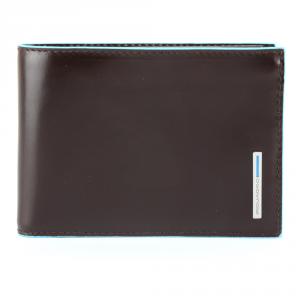 Man Wallet Piquadro BLUE SQUARE PU257B2 MOGANO