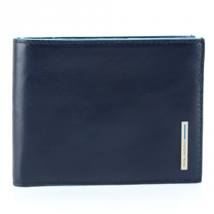 Man Wallet Piquadro BLUE SQUARE PU1241B2 BLU
