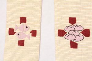 Stola SM207 M1 Croce Pani e Pesci Bianca