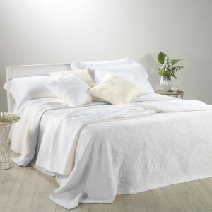 Copriletto leggero cotone matrimoniale CALEFFI Foglie bianco