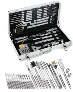 Set valigetta in alluminio da 32 pezzi in Acciaio Inox