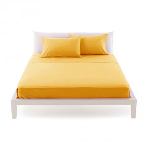 Bassetti Time Lenzuola di sopra per letto singolo 160x280 - giallo 1471