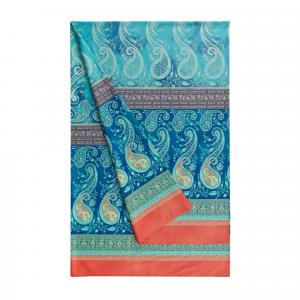 Bassetti Granfoulard telo arredo SCAURI 3 blu puro cotone - 180x270 cm